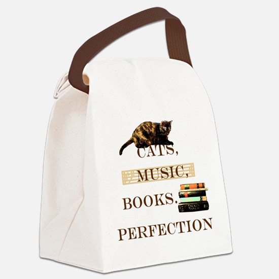 Cats, books and music Canvas Lunch Bag