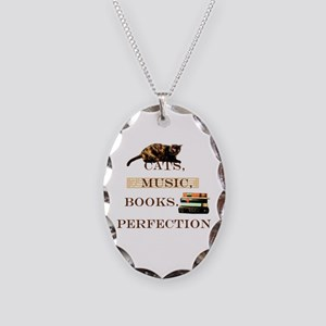 Cats, books and music Necklace