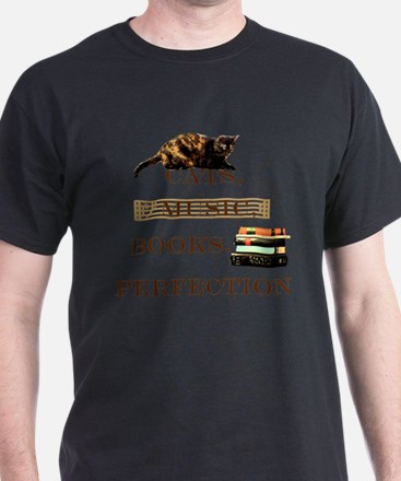 Cats, books and music T-Shirt