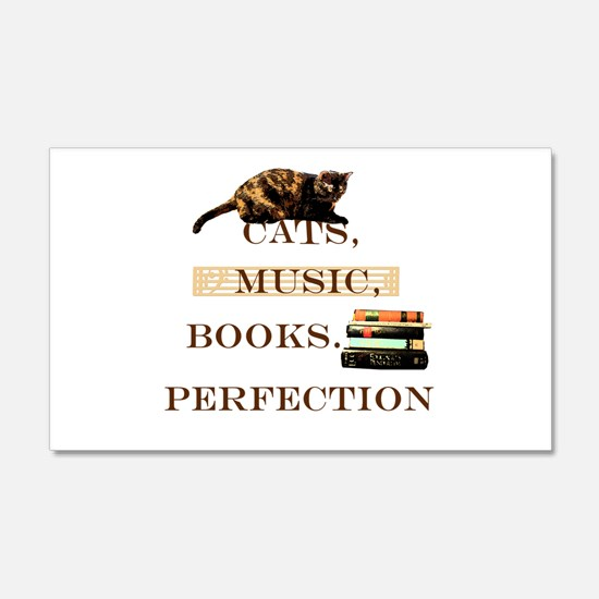 Cats, books and music Wall Decal