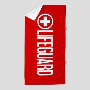 Lifeguard: Lifeguard (White) Beach Towel