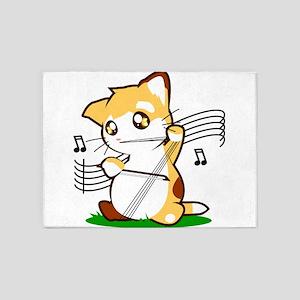 Cello Kitty 5'x7'Area Rug
