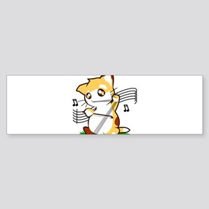 Cello Kitty Bumper Sticker