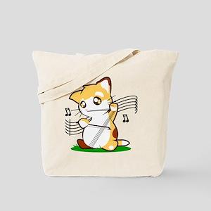 Cello Kitty Tote Bag