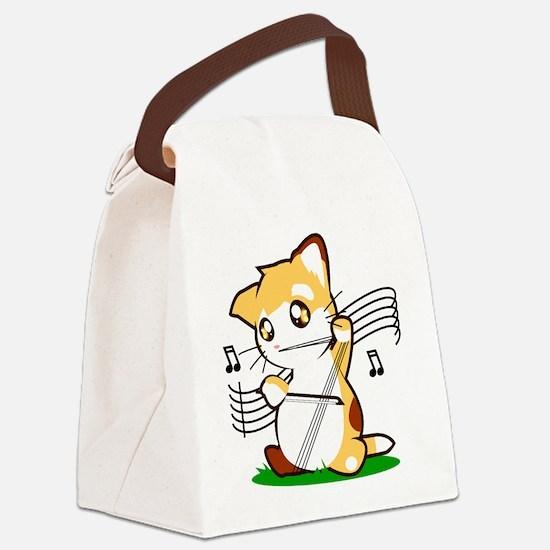 Cello Kitty Canvas Lunch Bag
