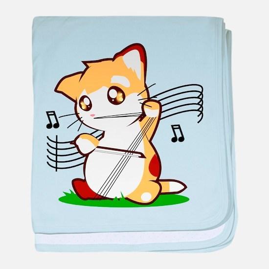Cello Kitty baby blanket