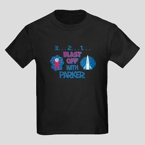Blast Off with Parker Kids Dark T-Shirt