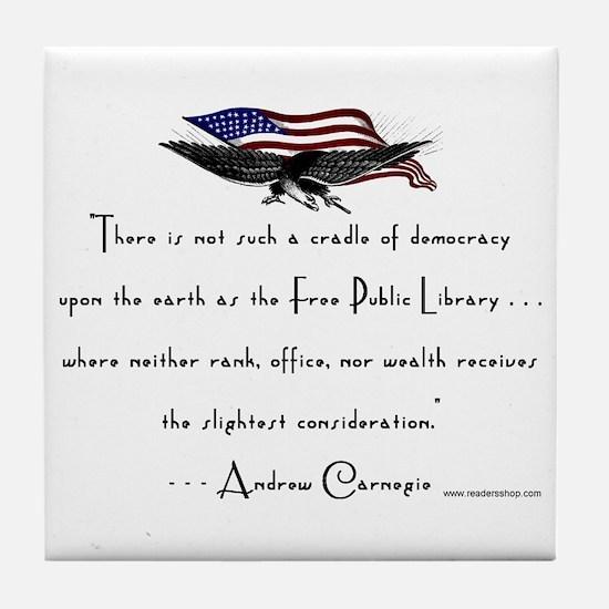 Andrew Carnegie-Libraries<br> Tile Coaster