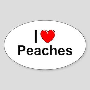 Peaches Sticker (Oval)