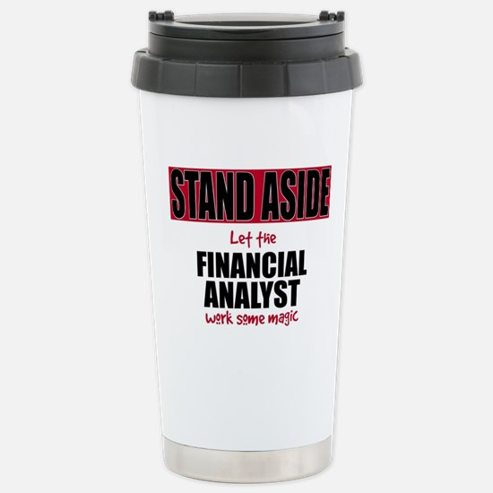 Financial Analyst Stainless Steel Travel Mug
