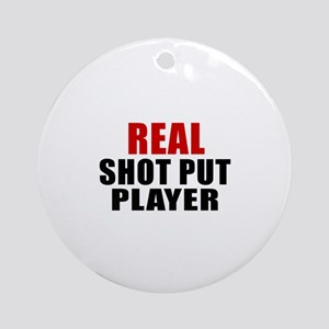 Real Shot Put Round Ornament