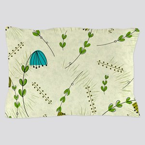 Mid-Century Modern Flowers Pillow Case