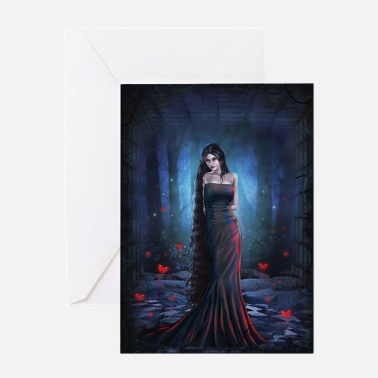Lady of the Dark Greeting Cards