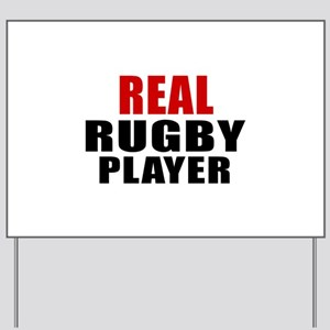 Real Rugby Yard Sign