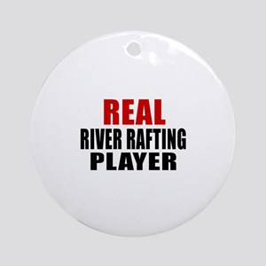 Real River Rafting Round Ornament