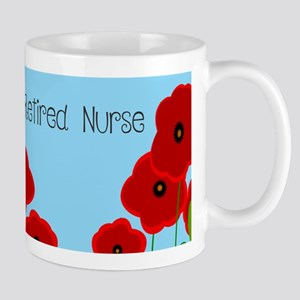 Retired Nurse Red Poppies Mugs
