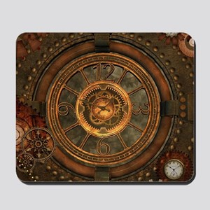 Steampunk, noble design with clocks and gears Mous