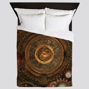 Steampunk, noble design with clocks and gears Quee