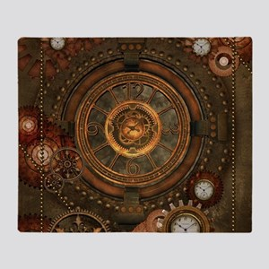 Steampunk, noble design with clocks and gears Thro