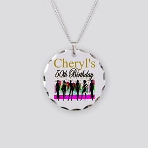 MS DIVA 50TH Necklace Circle Charm