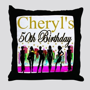 MS DIVA 50TH Throw Pillow