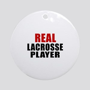 Real Lacrosse Round Ornament