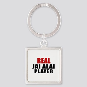 Real Jai Alai Square Keychain