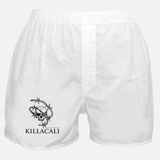 KillaCali Barbed Wire Skull Boxer Shorts