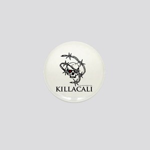 KillaCali Barbed Wire Skull Mini Button