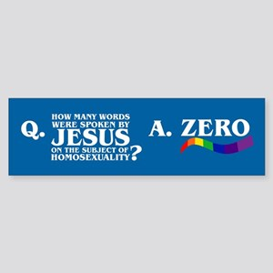 HOW MANY WORDS? Bumper Sticker