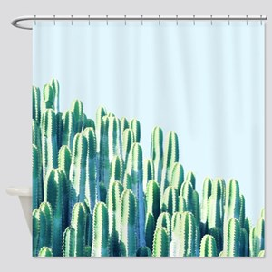 Cactus by the Sea Shower Curtain