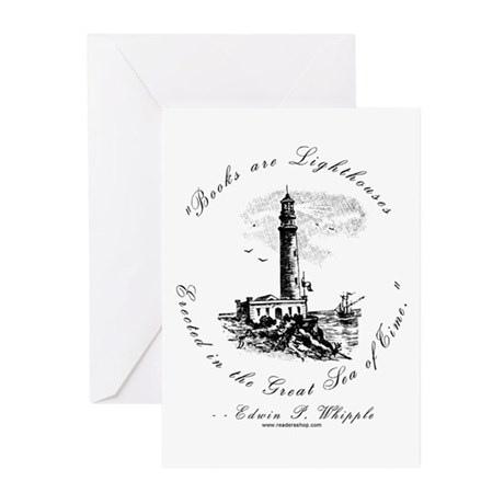 Books are Lighthouses<br> Greeting Cards (Package