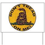 Don't Tread on Me-Circle Yard Sign