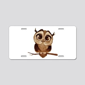 OWL Aluminum License Plate