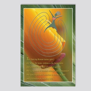 Dancing Woman Labyrinth Postcards (Package of 8)