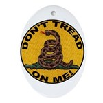 Don't Tread on Me-Circle Oval Ornament