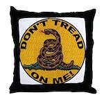 Don't Tread on Me-Circle Throw Pillow