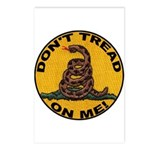 Don't Tread on Me-Circle Postcards (Package of 8)