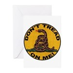 Don't Tread on Me-Circle Greeting Cards (Pk of 10)