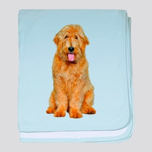 Goldendoodle Photo baby blanket