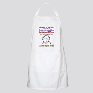 Afib crazy lady shirt Apron