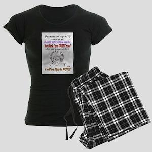 Afib crazy lady shirt Pajamas