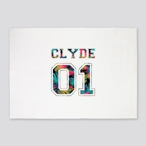 Bonnie and Clyde shirts 5'x7'Area Rug