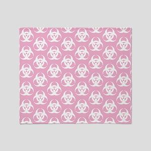 Biohazard Pattern Pink Throw Blanket