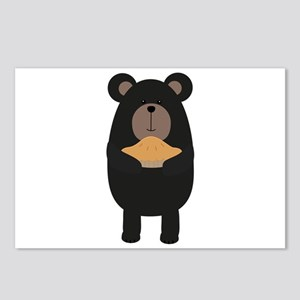 Black Bear with pie Postcards (Package of 8)