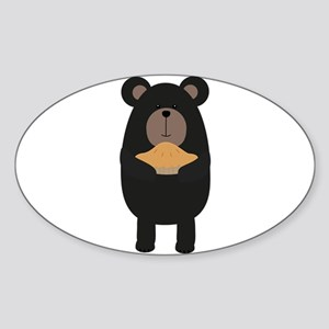 Black Bear with pie Sticker