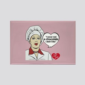 I Love Lucy Chocolate Lover Rectangle Magnet