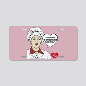 I Love Lucy Chocolate Lover Aluminum License Plate