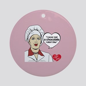 I Love Lucy Chocolate Lover Round Ornament