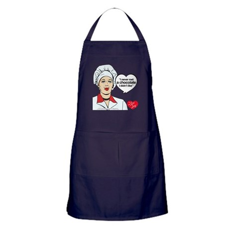I LOVE LUCY CHOCOLATE LOVER APRON (DARK)